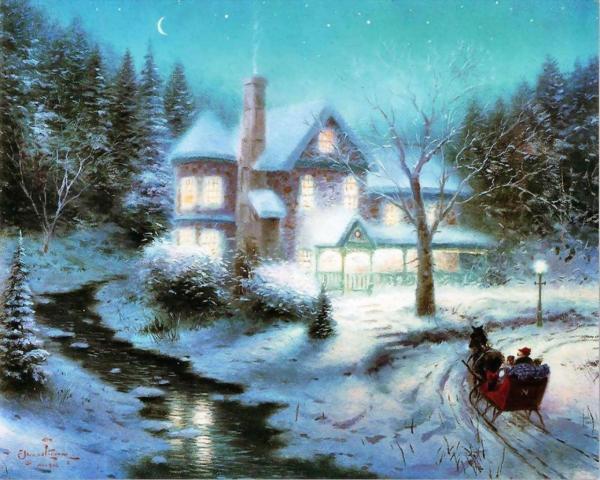 Thomas Kinkade Christmas Paintings