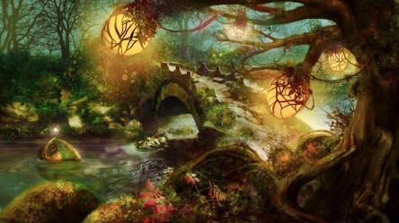 fantasy forest wallpapers nature desktop cave