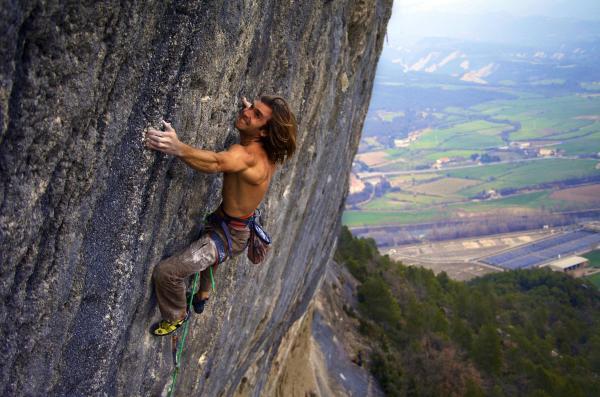 Chris Sharma Rock Climbing