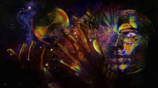 Trippy Psychedelic Universe God