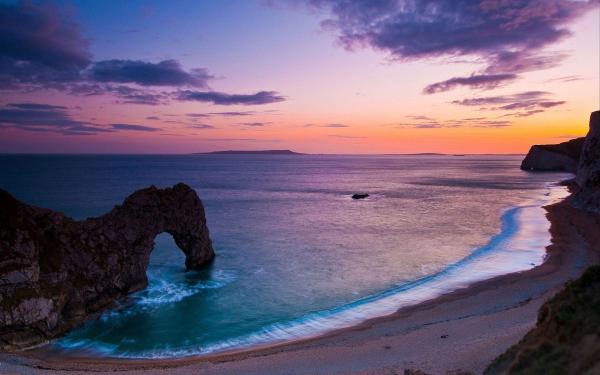 Beautiful Beach Sunset Landscape