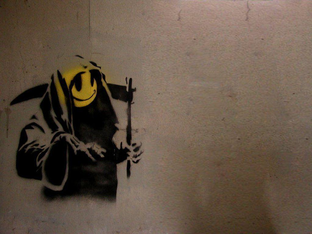 Smiley Wallpapers With Quotes Banksy Wallpapers Hd Wallpaper Cave