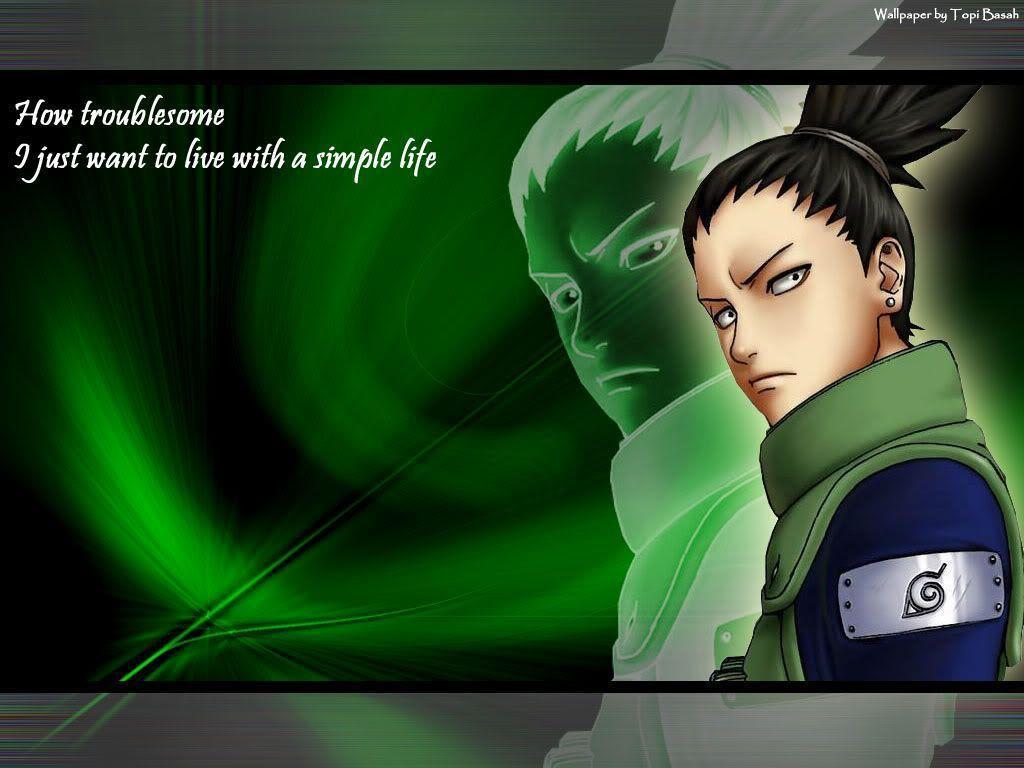 Naruto Quotes Wallpaper Hd Shikamaru Wallpapers Wallpaper Cave