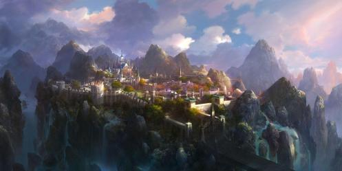 Mountain Fantasy City