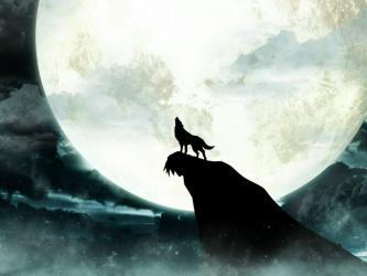 Black Wolf Moon Wallpaper