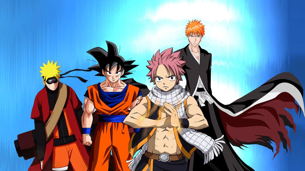 Naruto Vs Vs Natsu Vs Vs Memes Luffy Ichigo Goku