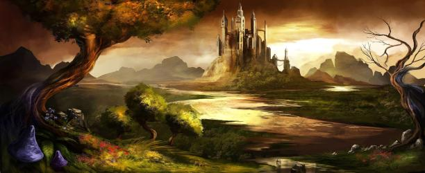 castle fantasy trine wallpapers game hd backgrounds landscape awesome background castles desktop fairytale stunning pc wall computer cave wallpapercave