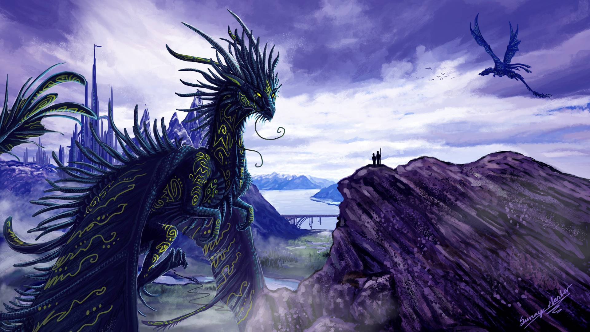 purple dragon wallpapers - wallpaper cave