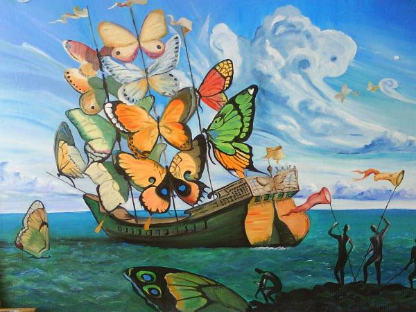 Salvador Dali Butterfly Painting