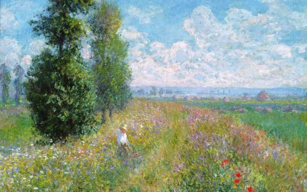 Claude Monet Painting Desktop