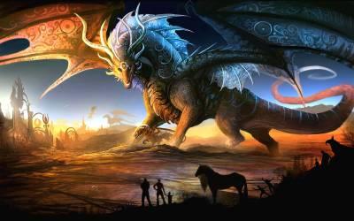 Wallpaper Epic Dragon