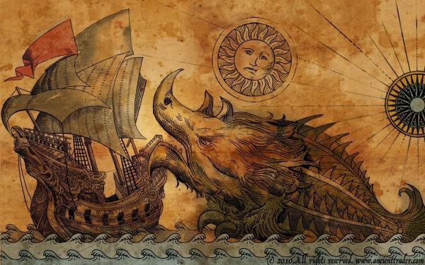 Ancient Sea Monster Drawings