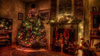 Christmas Fireplace Backgrounds - Wallpaper Cave