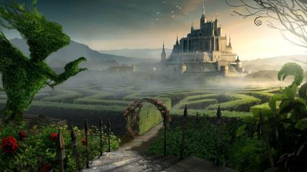 fantasy backgrounds wallpapers background castle landscape hd labyrinth maze fantastical castles resolution palace alice