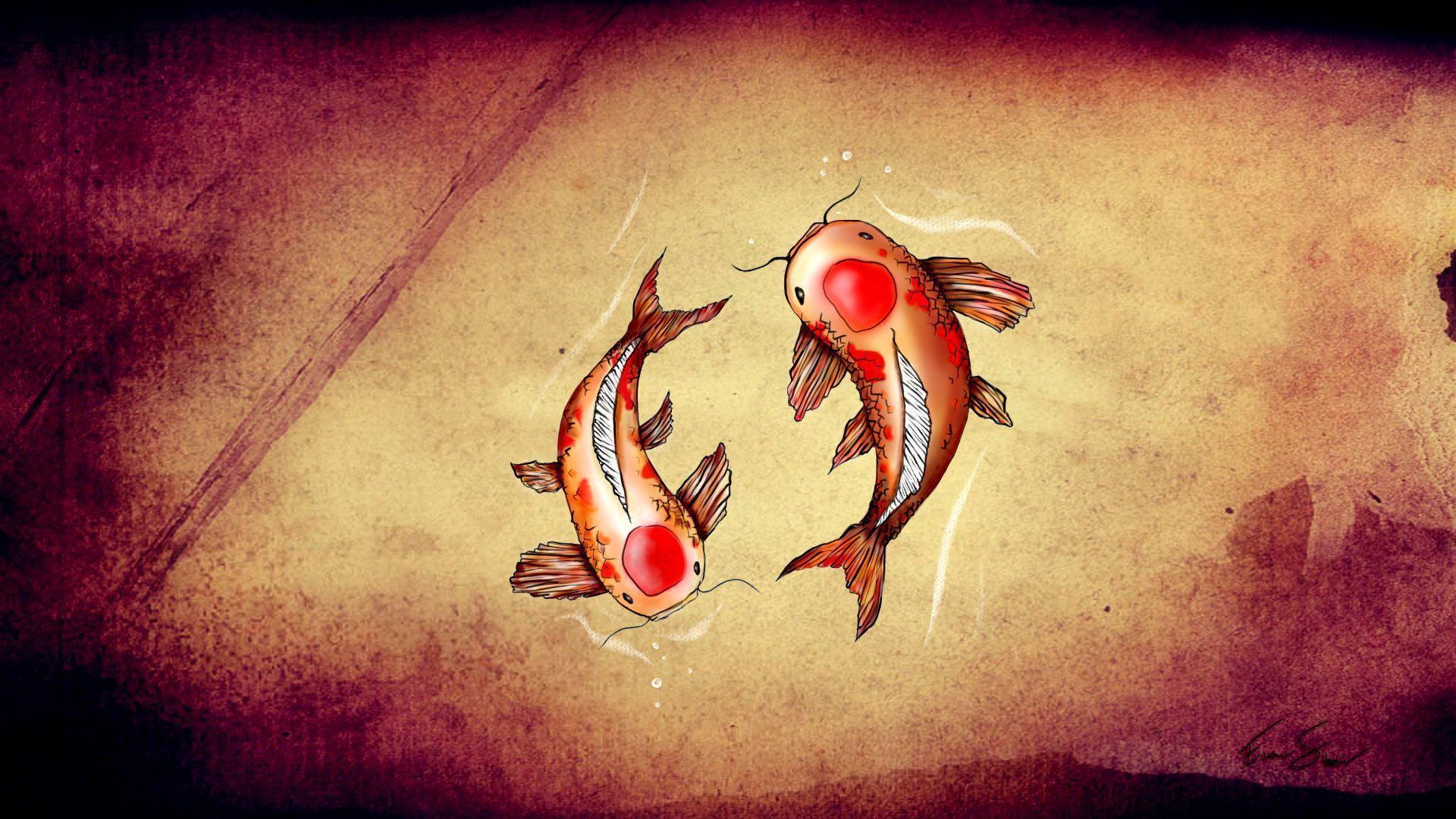 Anime Koi Fish Girl Wallpaper Coy Fish Wallpapers Wallpaper Cave