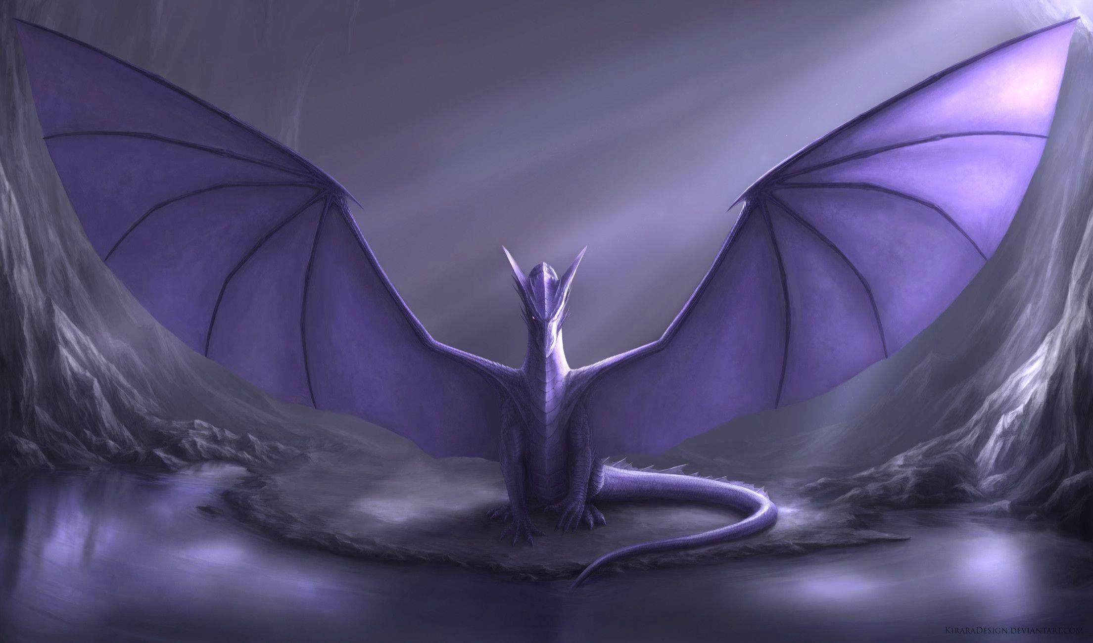 Dark Purple Dragon Wallpaper