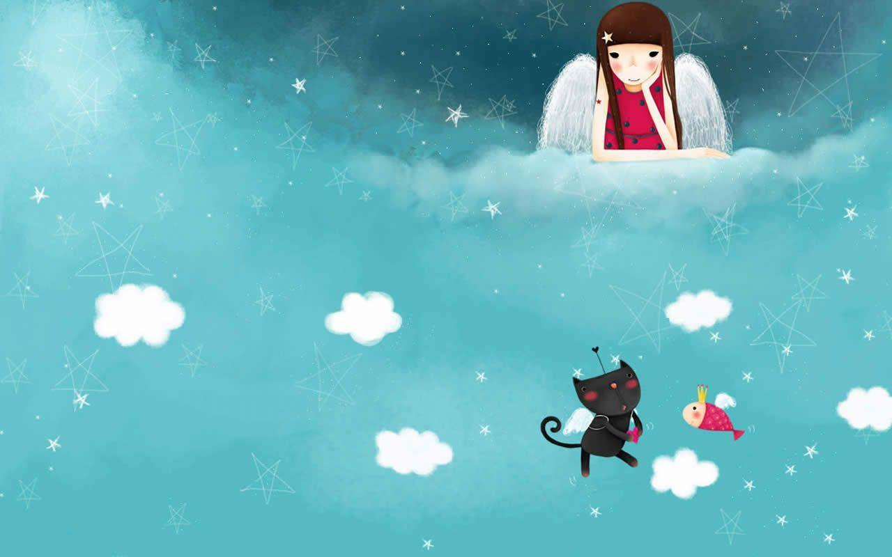 Wallpaper Cute Korean Girl Cartoon Korean Wallpapers Wallpaper Cave