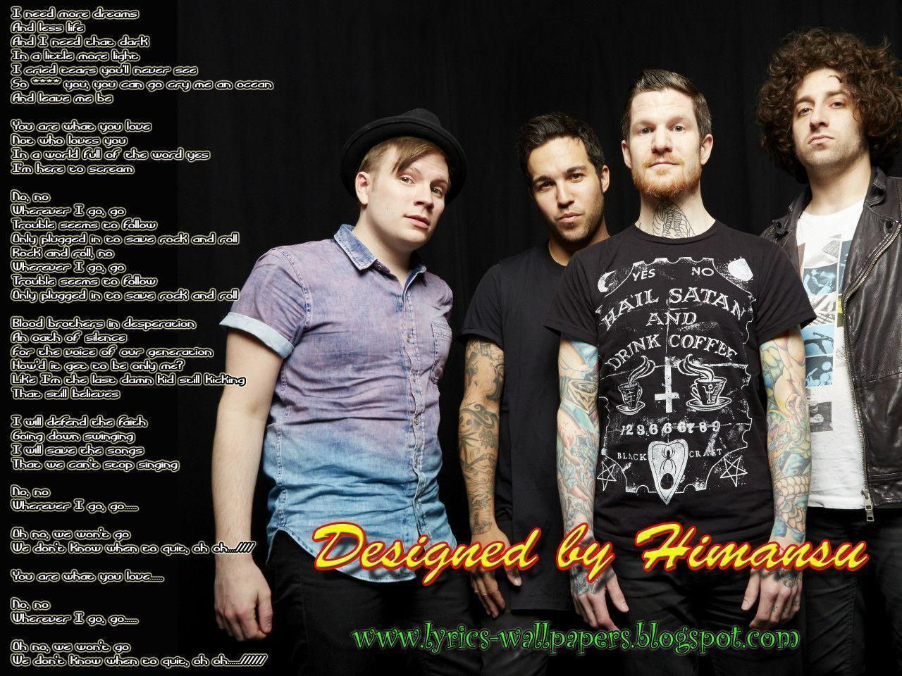 Fall Out Boy Wallpaper Save Rock And Roll Fall Out Boy Backgrounds Wallpaper Cave