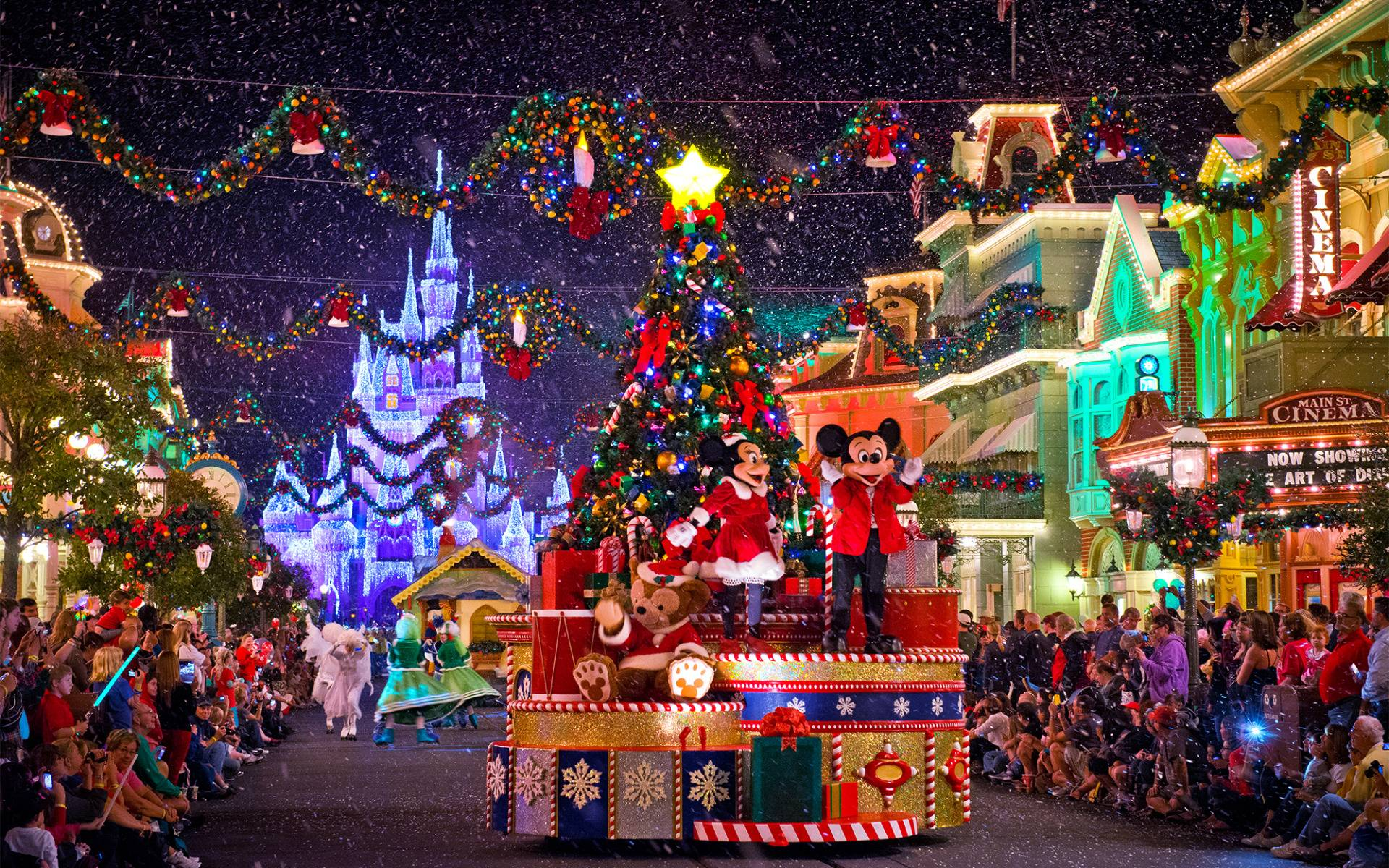 Disney Christmas Wallpapers Wallpaper Cave