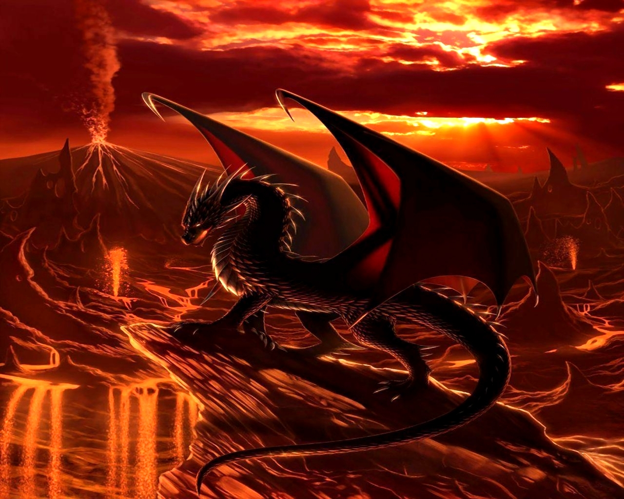 Red Dragon Wallpaper Cave