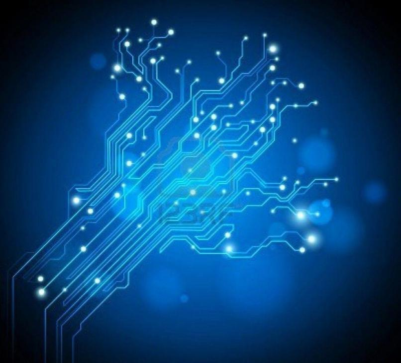 blue circuit board wallpaper | Reviewwalls.co