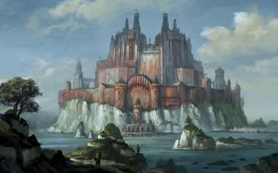 castle fantasy wallpapers desktop backgrounds cave computer