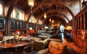 library wallpapers magic