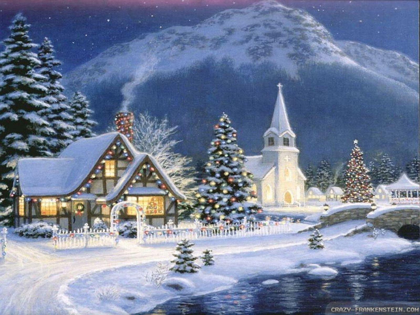 Kinkade Christmas Scenes Old Fashioned