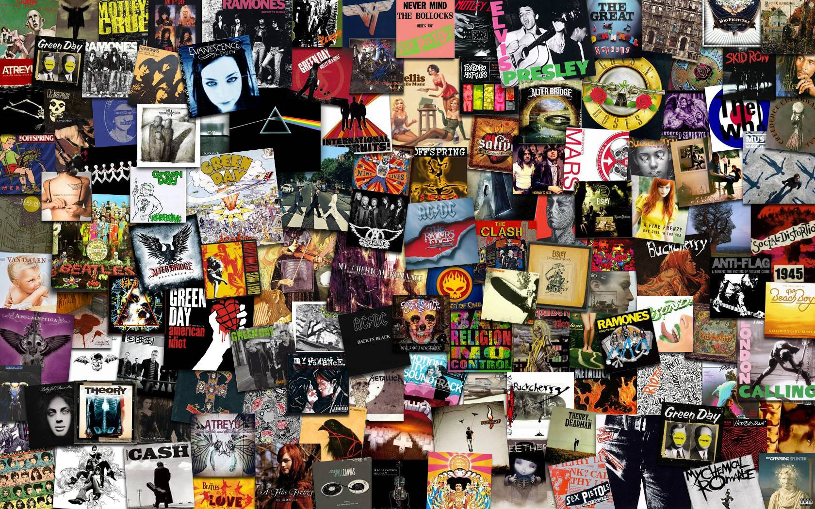 Rock Band Collages Of The 90s