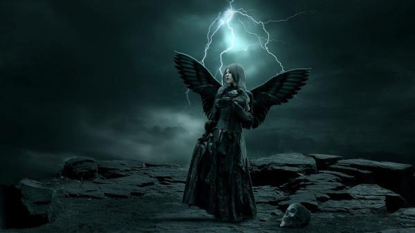 Dark Gothic Angel Art