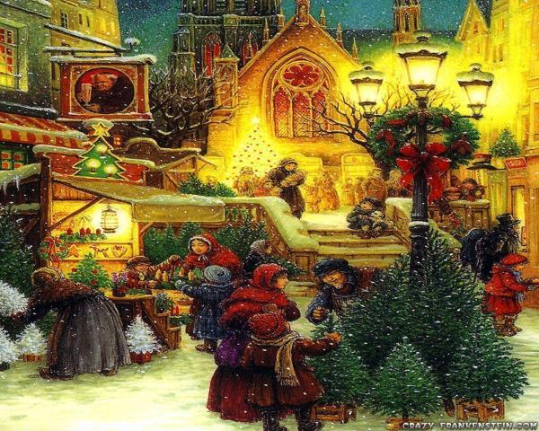 Old Vintage Christmas Scenes