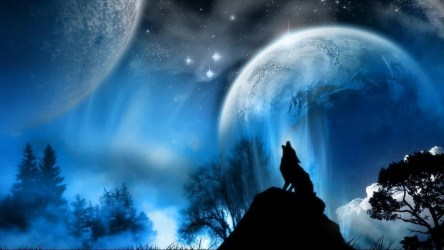 wolf howling moon wallpapers wolves background backgrounds cool desktop hd night howl werewolf under awesome looking moons 3d moonlight fantasy