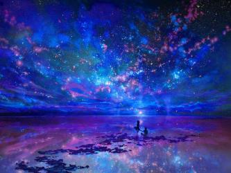 fantasy landscape wallpapers anime cool sky landscapes background stars scapes land pretty dream nature amazing lands 1200 px light