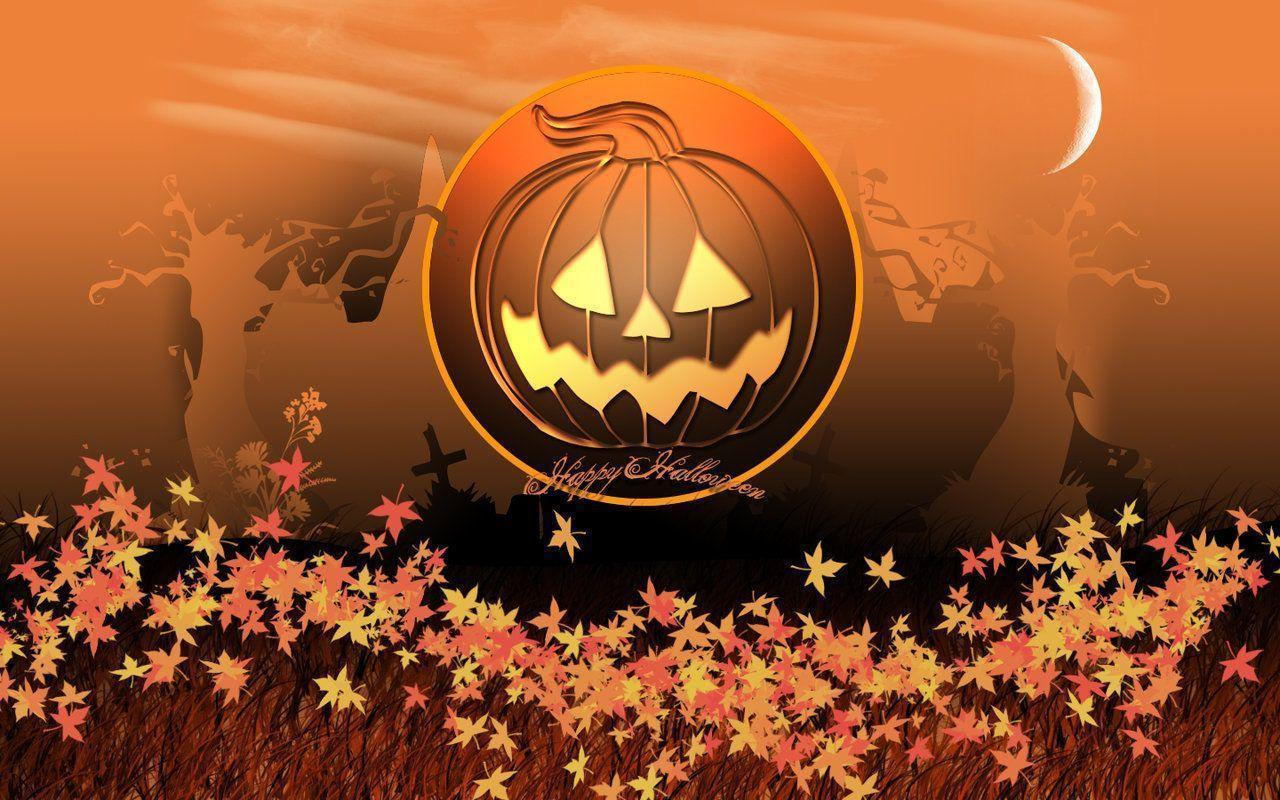 Fall Scarecrow Wallpaper Happy Halloween Desktop Wallpapers Wallpaper Cave