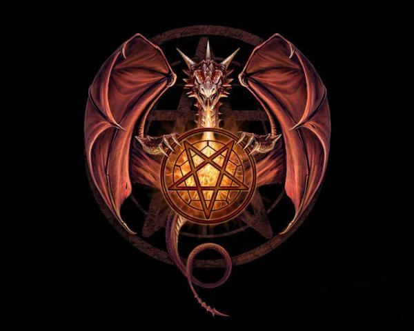 Dragon with Pentagram