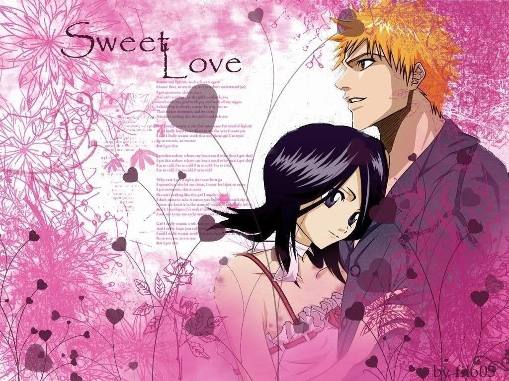Cute Couples Wallpapers For Facebook Ichigo Rukia Wallpapers Wallpaper Cave