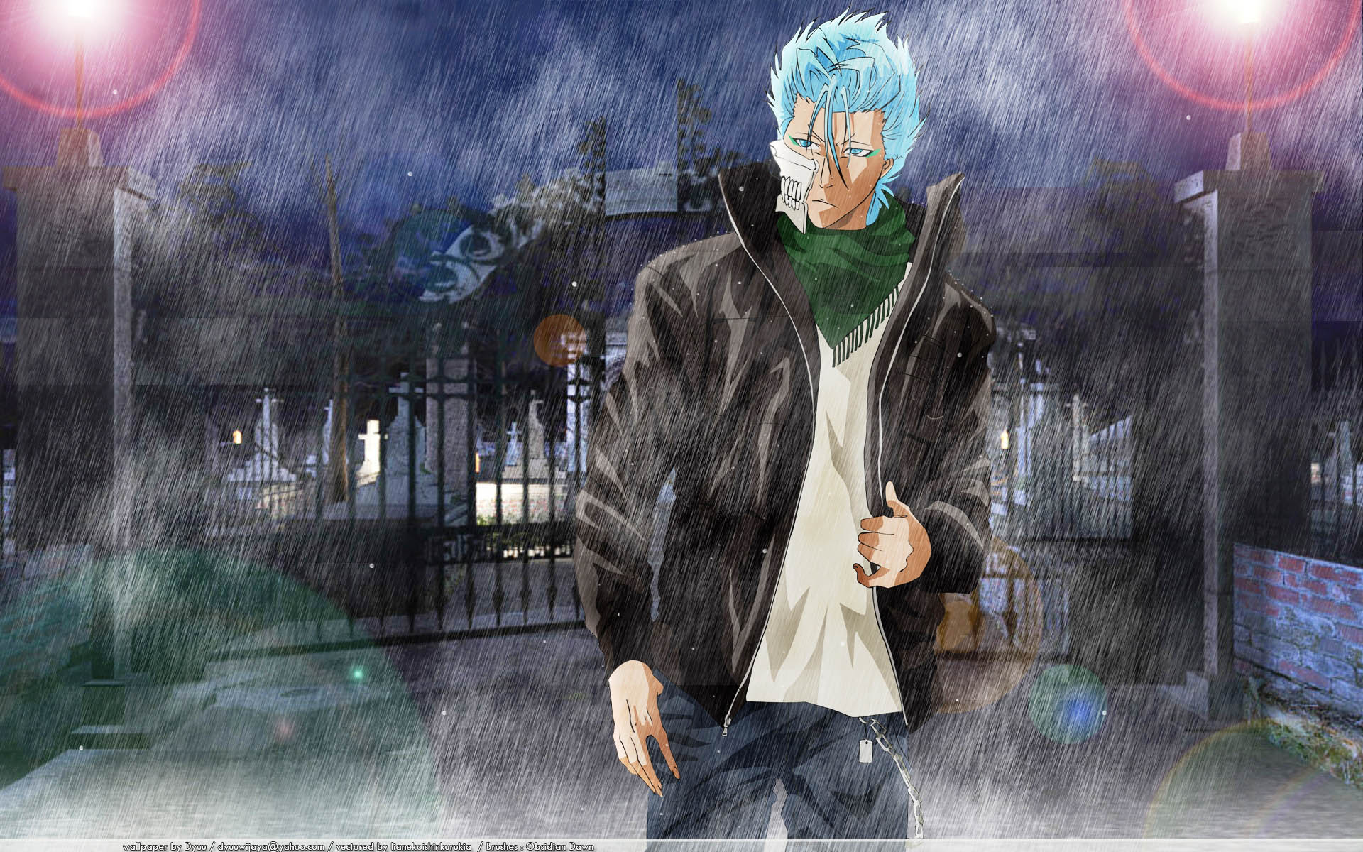 Rain Boy And Girl Wallpaper Grimmjow Jeagerjaques Wallpapers Wallpaper Cave