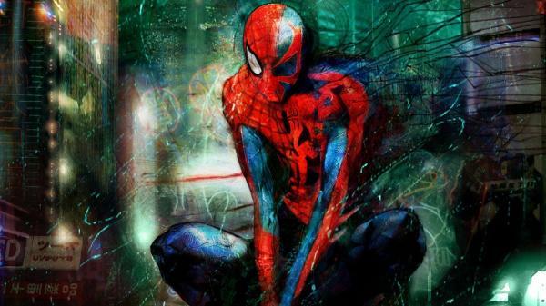 2099 Spider-Man Wallpaper 1080P