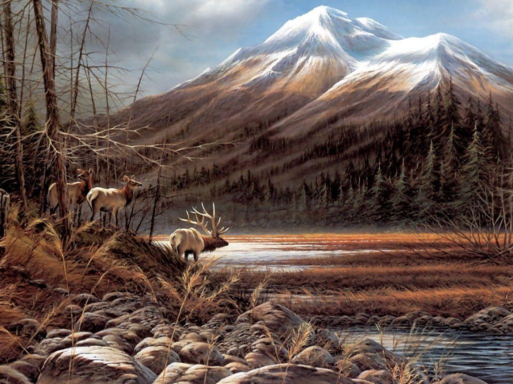 Beautiful Fall Paintings Wallpapers Terry Redlin Wallpapers Wallpaper Cave
