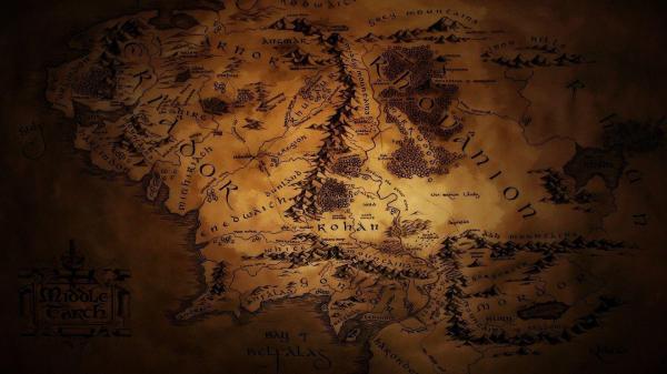 Middle Earth Map Desktop Wallpaper