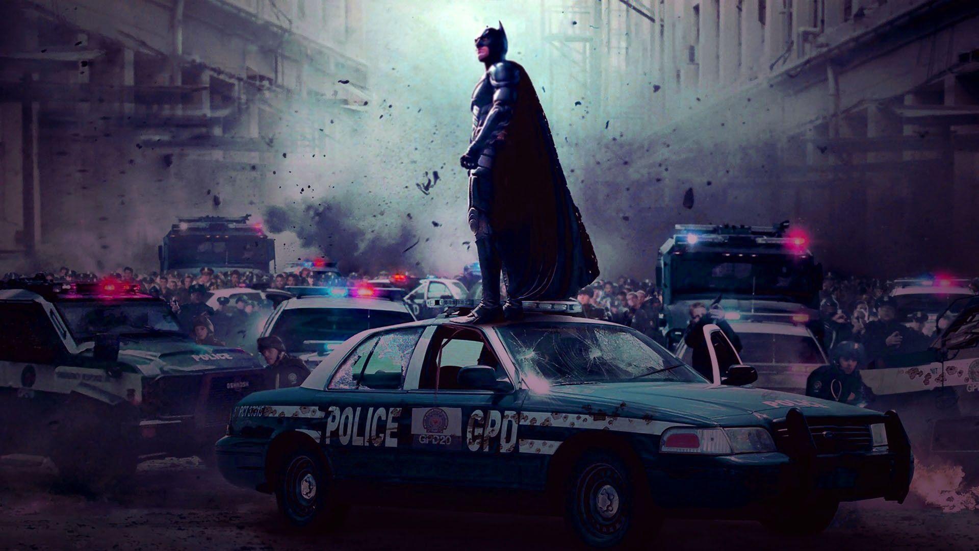 Batman The Dark Knight Car Wallpaper Police Car Wallpapers Wallpaper Cave