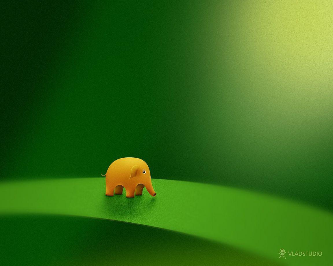 Cute Elephant Cartoon Wallpapers Elephant Desktop Wallpapers Wallpaper Cave