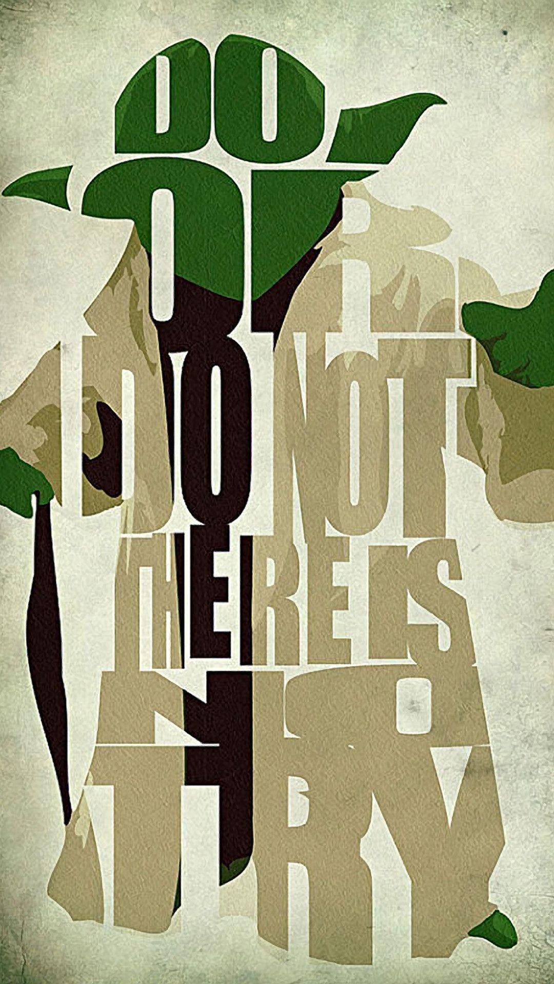 Create Iphone Wallpaper Quote Yoda Wallpapers Wallpaper Cave