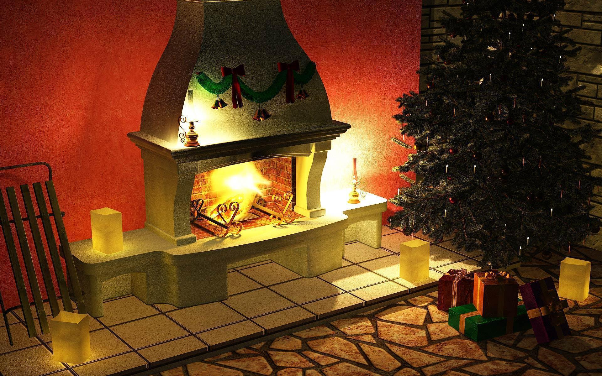 Desktop 3d Wallpapers Holidays Christmas Free Christmas Fireplace Wallpapers Wallpaper Cave
