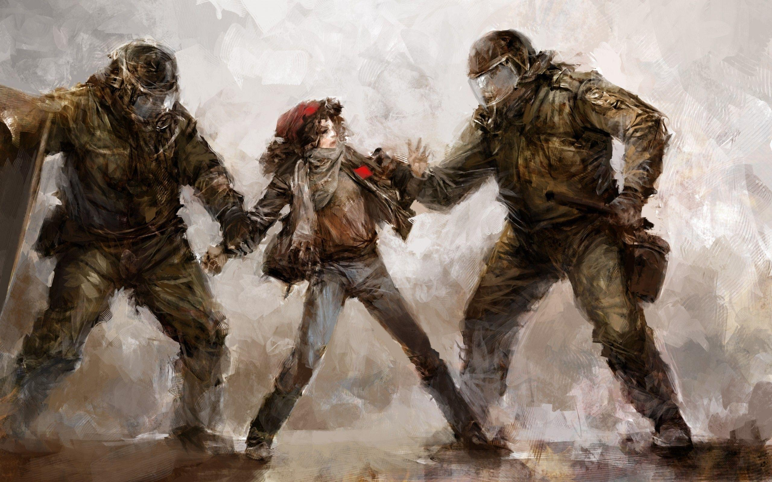 Girl With Guns Hd Wallpapers Riot Wallpapers Wallpaper Cave