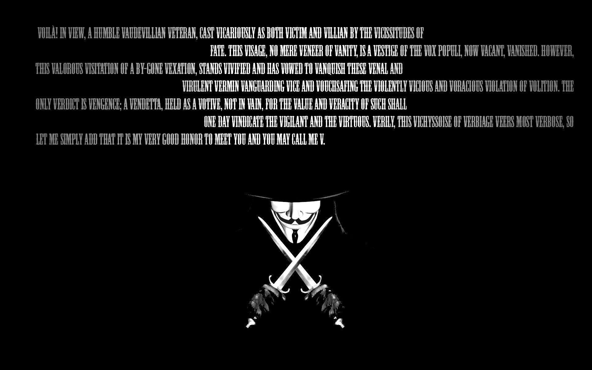 V For Vendetta Wallpaper Quotes V For Vendetta Wallpapers Wallpaper Cave