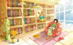 study wallpapers desktop books fantasy