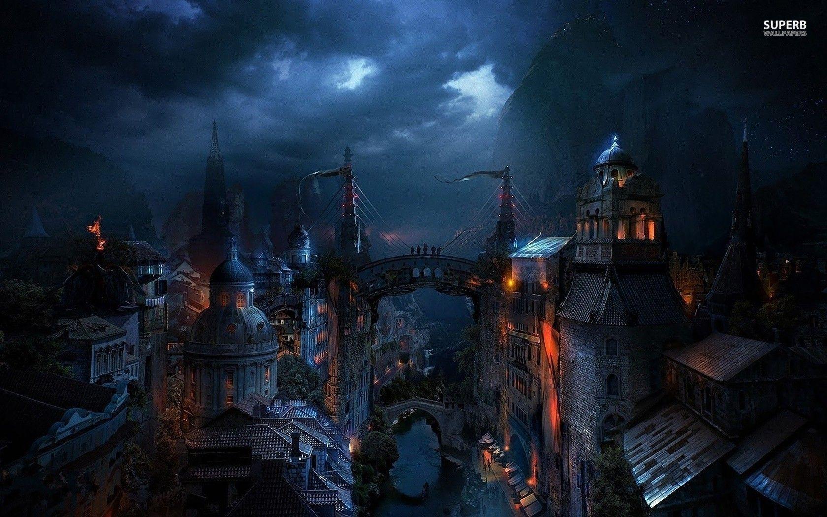Dark Wallpaper Anime Dark City Wallpapers Wallpaper Cave