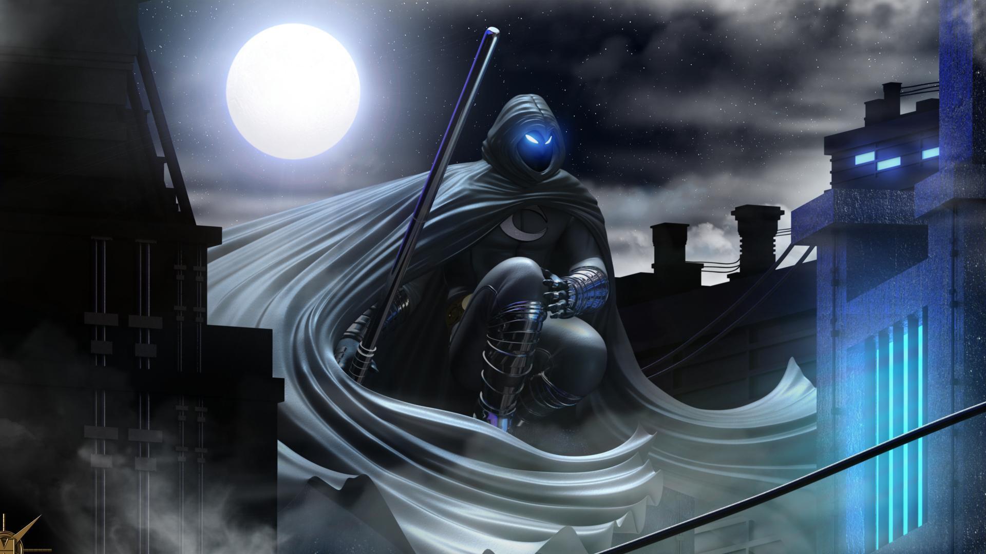 Batman Beyond 3d Wallpaper Moon Knight Wallpapers Wallpaper Cave
