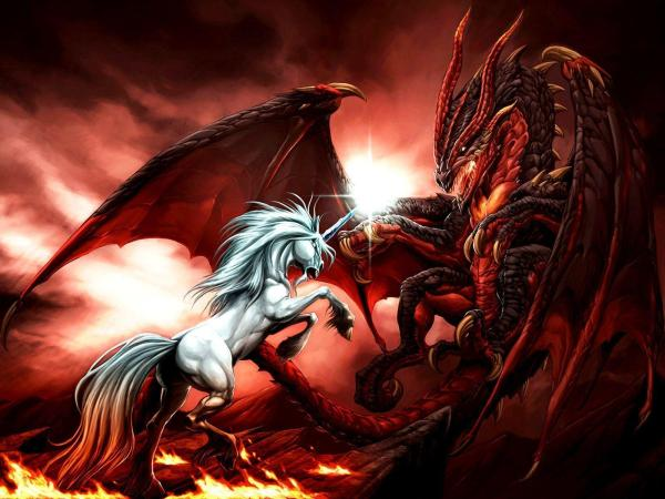 Red Dragon vs Unicorn